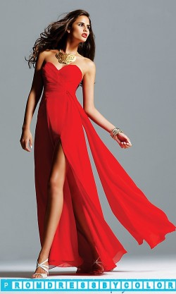 $173 Red Prom Dresses – Celebrity Style Gown by Faviana 6428 at www.promdressbycolor.com