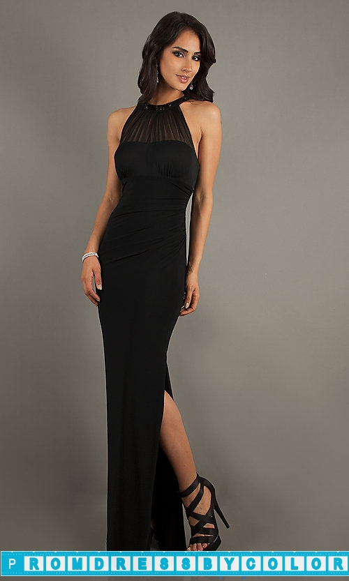$149 Red Prom Dresses – Floor Length Black Sleeveless Dress at www.promdressbycolor.com