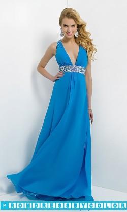 $174 Red Prom Dresses – Long Deep V-Neck Open Back Gown at www.promdressbycolor.com