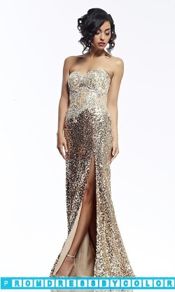 $233 Red Prom Dresses – Long Sequin Covered Strapless Dress at www.promdressbycolor.com