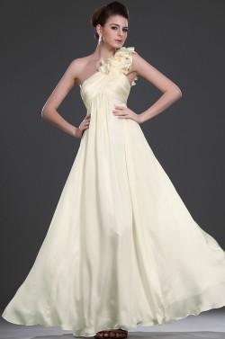 $170 Red Prom Dresses – Pleating Floor Length Chiffon Princess One Shoulder Yellow Evening Dress at www.promdressbycolor.com