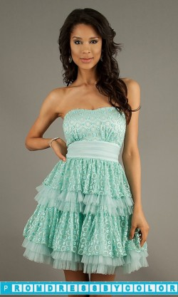 $149 Red Prom Dresses – Short Strapless Sequin Embellished Dress at www.promdressbycolor.com