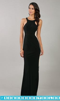 $148 Black Prom Dresses – Floor Length Fitted Black Sleeveless Dress at www.promdressbycolor.com