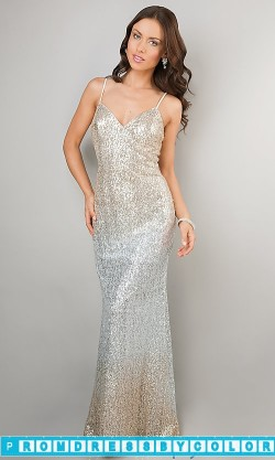 $193 Black Prom Dresses – Floor Length Spaghetti Strap Sequin Dress at www.promdressbycolor.com