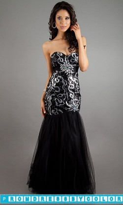 $234 Black Prom Dresses – Floor Length Strapless Sweetheart Dress at www.promdressbycolor.com