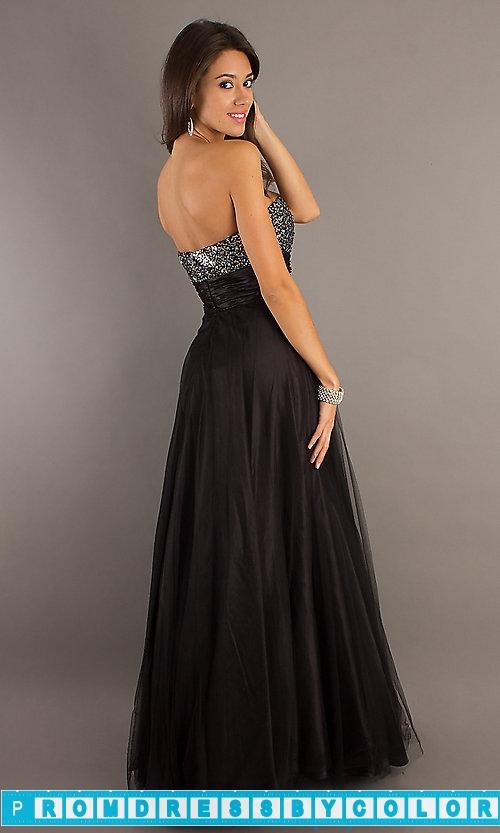 $183 Black Prom Dresses – Full Length Strapless Formal Gown at www.promdressbycolor.com