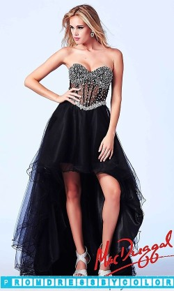 $203 Black Prom Dresses – High Low Strapless Sweetheart Dress at www.promdressbycolor.com