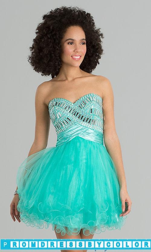 $144 Black Prom Dresses – Short Strapless Sweetheart Dress at www.promdressbycolor.com