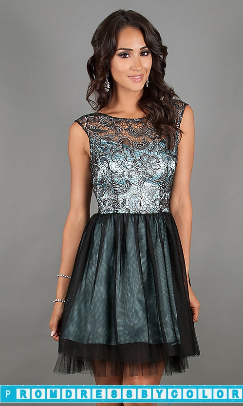 $184 Black Prom Dresses – Sleeveless Cocktail Dress with Open Back by Jump at www.promdressbycolor.com
