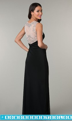 $144 Black Prom Dresses – Sleeveless Floor Length Ruched Dress at www.promdressbycolor.com