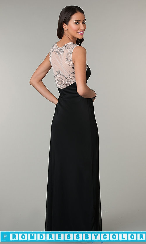 $144 Black Prom Dresses – Sleeveless Floor Length Ruched Dress at www.promdressbycolor.com