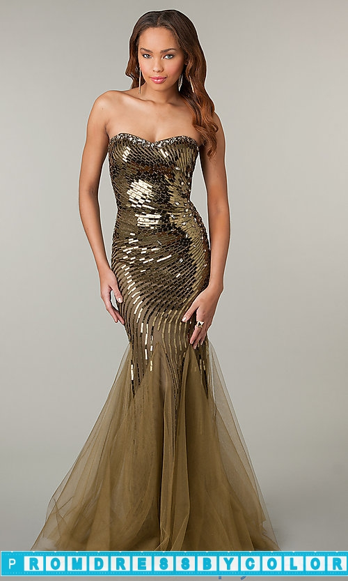 $249 Black Prom Dresses – Strapless Sweetheart Mermaid Sequin Dress at www.promdressbycolor.com