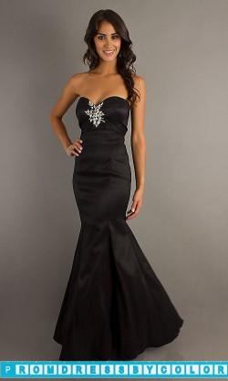 $184 Red Prom Dresses – Floor Length Strapless Mermaid Gown at www.promdressbycolor.com