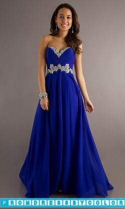$145 Red Prom Dresses – Full Length Strapless Gown by Blush 9616 at www.promdressbycolor.com