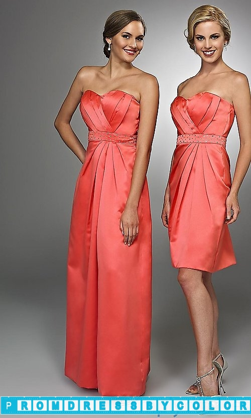 $104 Red Prom Dresses – Long Strapless Sweetheart Bridesmaid Dress at www.promdressbycolor.com