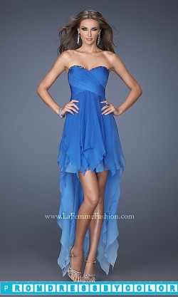 $144 Red Prom Dresses – Open Back Strapless High Low Dress at www.promdressbycolor.com