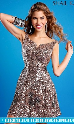 $185 Red Prom Dresses – Short Sequin Covered Prom Dress at www.promdressbycolor.com