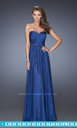 $203 Red Prom Dresses – Strapless Sweetheart Floor Length Lace Prom Dress at www.promdressbycolor.com