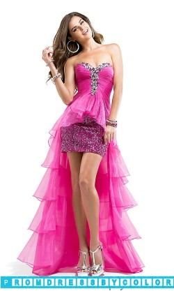 $203 Red Prom Dresses – Strapless Sweetheart High Low Prom Dress at www.promdressbycolor.com
