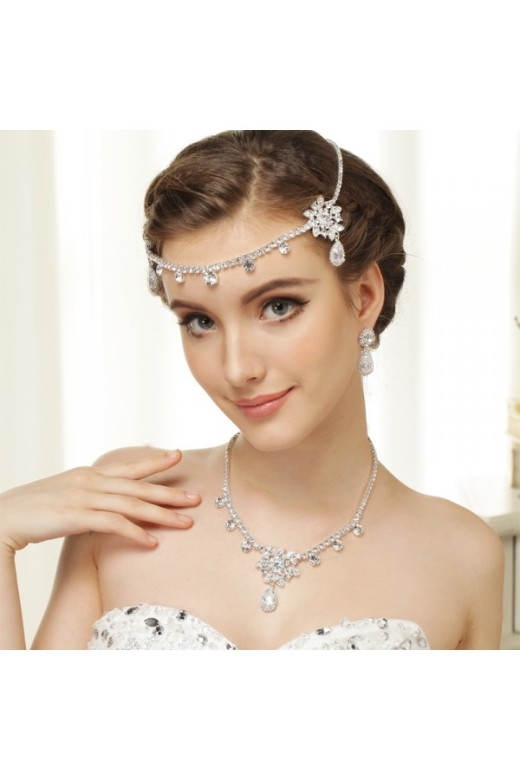 Antique Silver Clear Crystal & Rhinestone Tiara Headpiece – Accessories – Special Offer