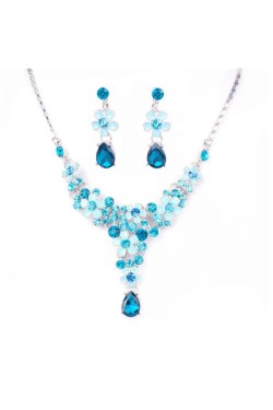 Blue Swaroski Crystal Bridal Jewelry Set – Accessories – Special Offer
