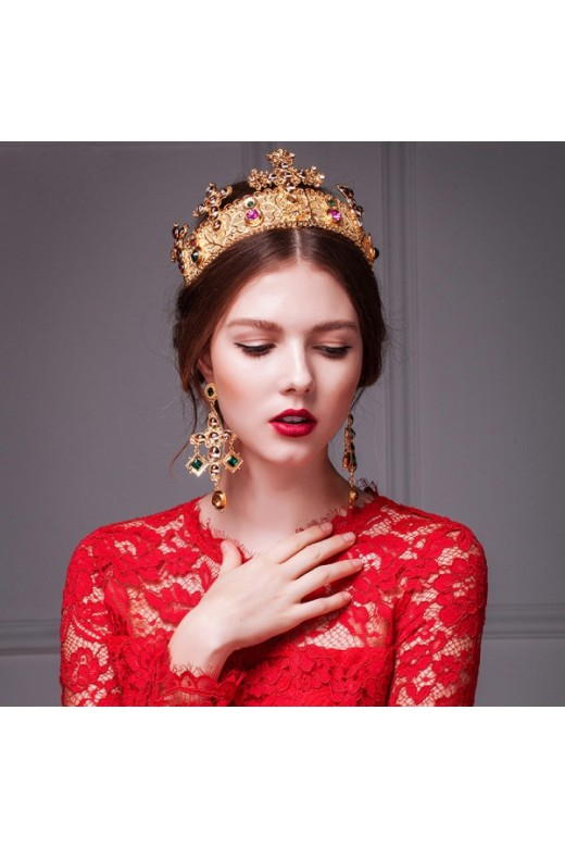 Gold Retro Handmade Tiara Headpiece – Wedding Tiaras – Accessories