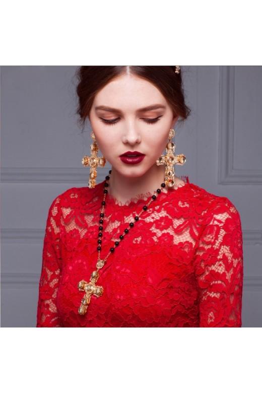 Unique & Couture Crystals Beading Headpiece set – Wedding Tiaras – Accessories