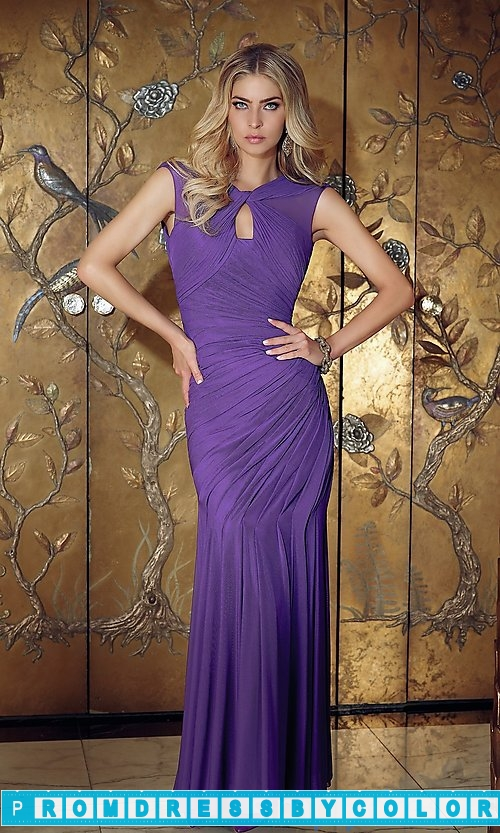 143 Black Prom Dresses – Long Keyhole Open Back Formal Gown at www.promdressbycolor.com