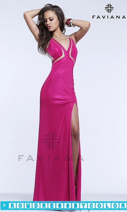 173 Black Prom Dresses – Long Open Back V-Neck Jersey Gown at www.promdressbycolor.com