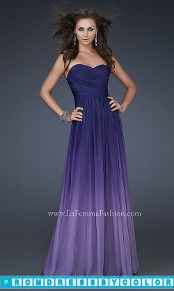 173 Black Prom Dresses – Long Strapless Ombre Gown by La Femme 17004 at www.promdressbycolor.com