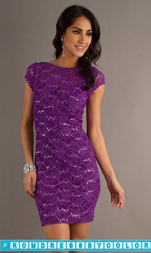 177 Black Prom Dresses – Short High Neck Sequin Embellished Dress at www.promdressbycolor.com