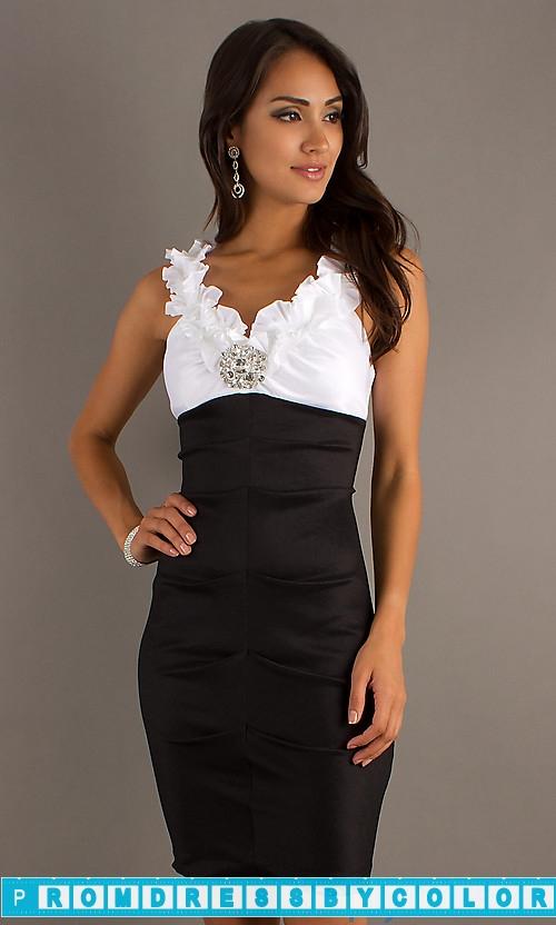 144 Black Prom Dresses – Short Sleeveless Empire Waist Dress by Sally Fashion at www.promdressbycolor.com
