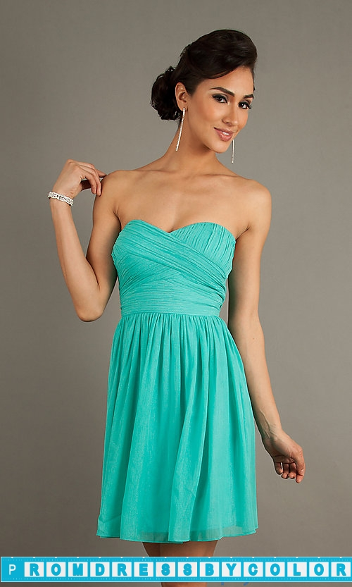 144 Black Prom Dresses – Short Strapless Black Dress at www.promdressbycolor.com