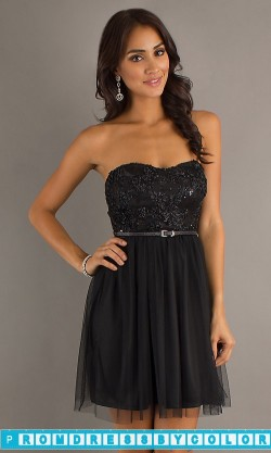 149 Black Prom Dresses – Short Strapless Dress at www.promdressbycolor.com