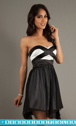 149 Black Prom Dresses – Strapless Sweetheart Short Dress at www.promdressbycolor.com