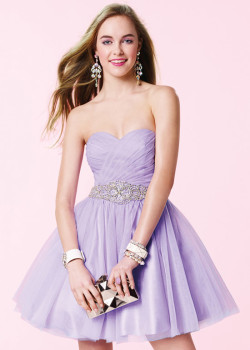 Cute Pleated Bodice Strapless Beaded Waist Open Back Lilac Party Dress [Alyce 3667 Lilac] – $165.00 : Short Homecoming Dresses For Party From www.homecoming2016.com