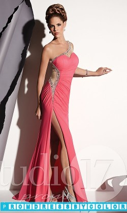 173 Red Prom Dresses – Floor Length One Shoulder Prom Dress at www.promdressbycolor.com