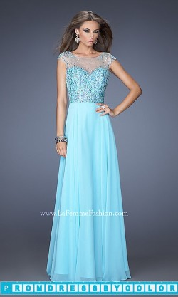 170 Red Prom Dresses – Long High Neck Gown with Cap Sleeves at www.promdressbycolor.com