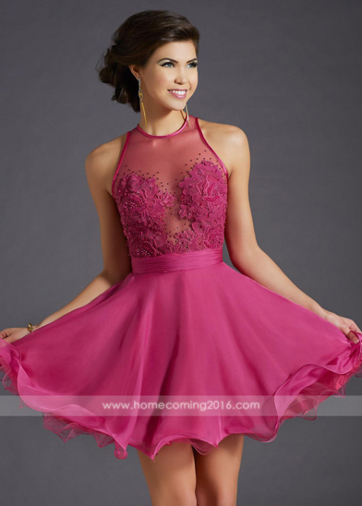 Romantic Fitted Illusion Bodice Rose Pleated Waist Homecoming Dress [Clarisse 2653 Rose] – $169.00 : Short Homecoming Dresses For Party From www.homecoming2016.com