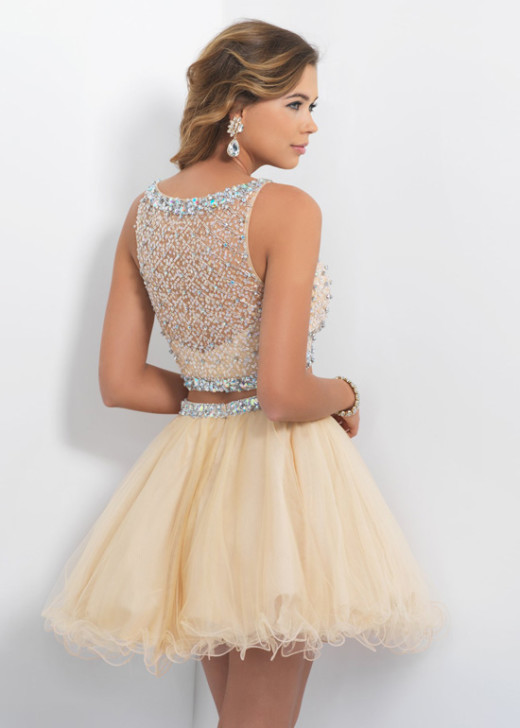 Unique Two Piece Sleeveless Beaded Tulle Sand Short Prom Dress 2015 [Blush 10054 Sand] – $215.00 : Buy Homecoming Dresses 2015 Online,60% off Dresses For Prom,Bridesmaid Dresses,Prom Shoes,Summer Dresses & Sunglasses 2015 at Thepromtrend2015.com