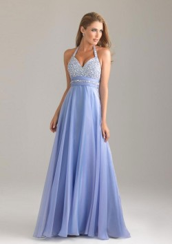 A-Line One Shoulder Beading Sleeveless Floor-Length Prom/Evening Dress