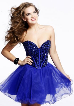 A Line Royal Short Beading Cheap Prom Dress [new-dress-0559] – $172.00 : Cute New Arrival Style Homecoming Prom Dresses Online For 2015 Party