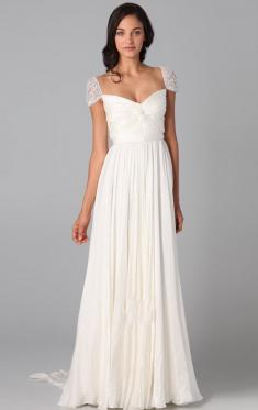 Casual Vintage Long Wedding Dress