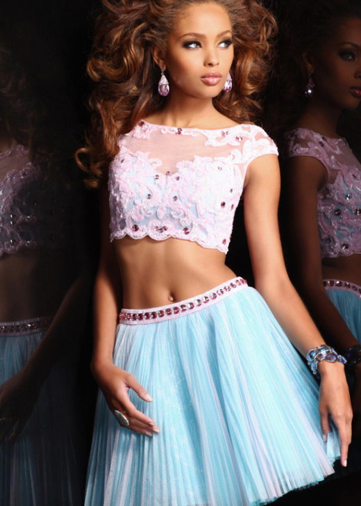 Aqua Pink Two Piece Cap Sleeves Beaded Pleated Short Party Dress [Sherri Hill 21154 Aqua Pink] – $196.00 : Short Homecoming Dresses For Party From www.homecoming2016.com