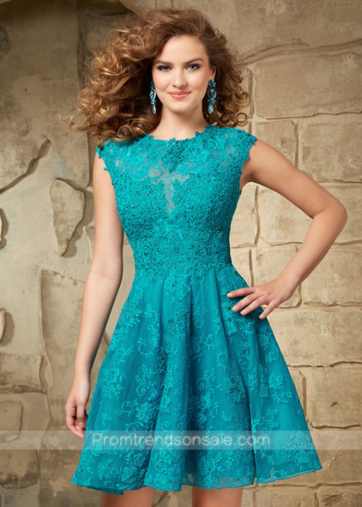 Beautiful Cap Sleeves Turquoise Beaded Lace Open Back Party Dress [Mori Lee 9343 Turquoise] – $186.00 : Hot Trends Homecoming Dresses,Prom Dress,Wedding Dress,Bridesmaid Dresses,Prom Shoes For Prom & Homecoming 2015 On Sale