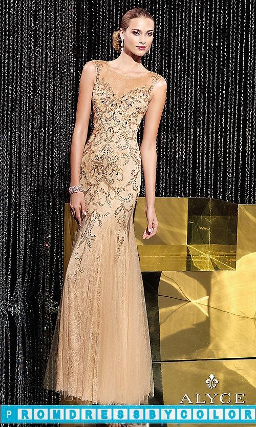 285 Black Prom Dresses – Alyce Floor Length High Neck Dress at www.promdressbycolor.com