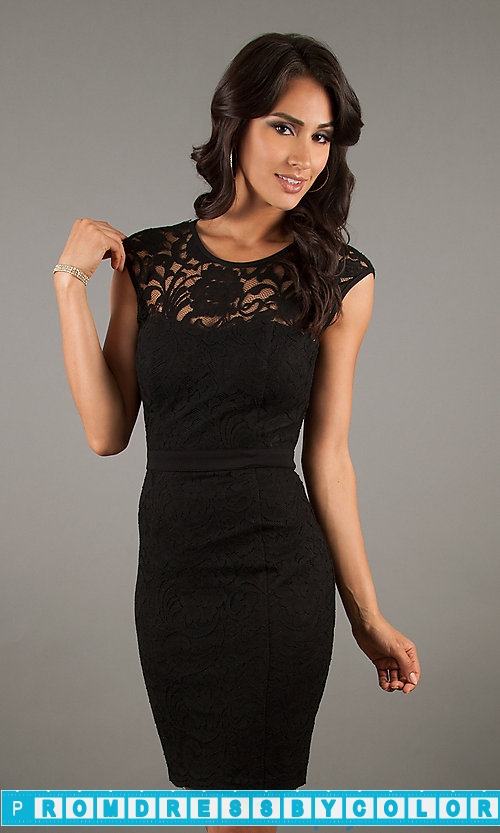 144 Black Prom Dresses – Black Cocktail Dress with Open Back by XO at www.promdressbycolor.com