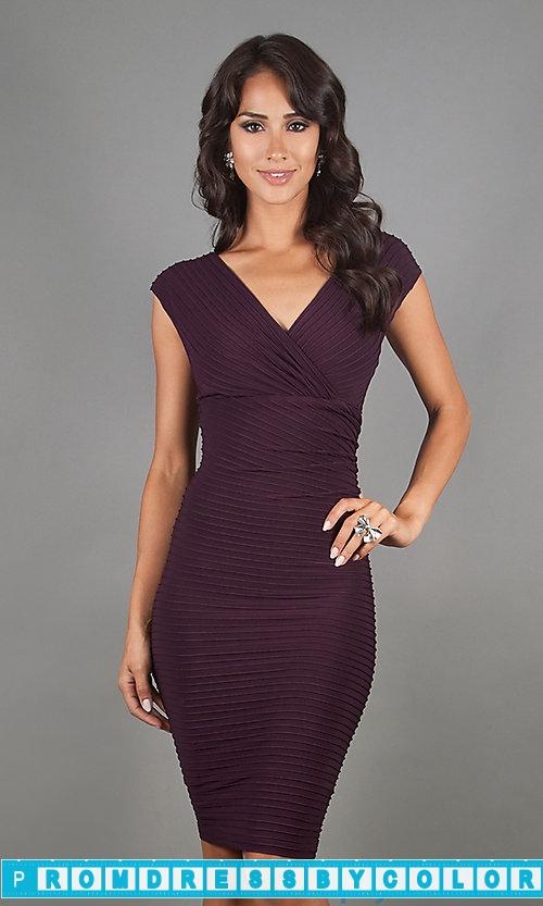 149 Black Prom Dresses – Knee Length Career Dress by Morgan at www.promdressbycolor.com