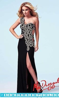 203 Black Prom Dresses – Long One Shoulder Sweetheart Dress at www.promdressbycolor.com