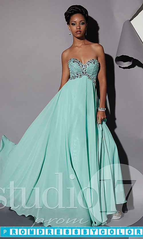 173 Black Prom Dresses – Long Strapless Empire Waist Gown at www.promdressbycolor.com